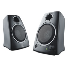 Logitech® Z130 Compact 2.0 Stereo Speakers, 3.5mm Jack, Black