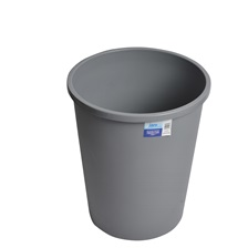49 Qt. Round Garbage Can Grey