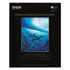 Epson® Exhibition Textured Watercolor Paper, 17 x 22, White