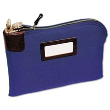 MMF Industries™ Seven-Pin Security/Night Deposit Bag, Two Keys, Cotton Duck, 11 x 8 1/2, Blue