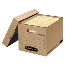 Bankers Box® Filing Storage Box with Locking Lid, Letter/Legal, Kraft, 25/Carton