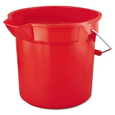 Rubbermaid® Commercial BRUTE Round Utility Pail, 14qt, Red