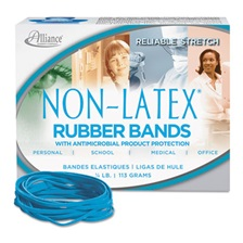 Alliance® Antimicrobial Non-Latex Rubber Bands, Sz. 33, 3-1/2 x 1/8, .25lb Box