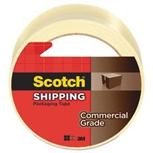 "Scotch® 3750 Commercial Grade Packaging Tape, 1.88"" x 54.6yds, 3"" Core, Clear"
