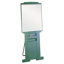 "Quartet® Duramax Portable Presentation Easel, Adjusts 39"" to 72"" High, Plastic, Gray"