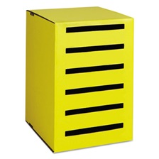 Pacon® Classroom Keepers Homework Collector, Yellow, 6 Compartments, 13 x 14 x 18