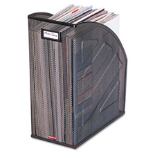 Rolodex™ Nestable Rolled Mesh Steel Jumbo Magazine File, 6 1/2 x 10 x 12 1/2, Black