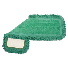 Boardwalk® Microfiber Dust Mop Head, 24 x 5, Green, 12/Carton