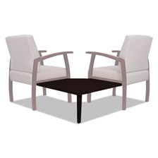 Alera® Alera Reception Lounge 700 Series Gang Table, Corner, 27 1/2 x 27 1/2, Mahogany