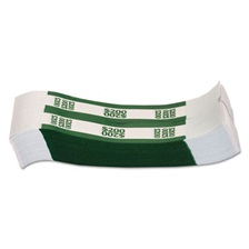 Coin-Tainer® Currency Straps, Green, $200 in Dollar Bills, 1000 Bands/Pack