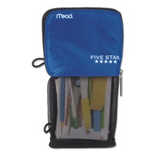 Five Star® Stand 'N Store Pencil Pouch, 4 1/2 x 8, Cobalt