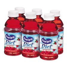 Ocean Spray® Cranberry Juice Drink, Diet Cranberry, 10 oz Bottle, 6/Pack