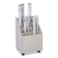 Safco® Laminate Mobile Roll Files, 20 Compartments, 15-1/4w x 13-1/4d x 23-1/4h, Putty