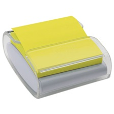 Post-it® Pop-up Notes Super Sticky Pop-Up Notes Wrap Dispenser, 3 x 3, White/Clear