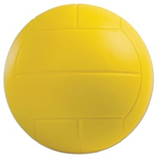 Champion Sports Coated Foam Sport Ball, Volleyball, Yellow