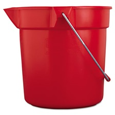 Rubbermaid® Commercial BRUTE Round Utility Pail, 10qt, Red