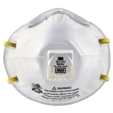 3M™ Particulate Respirator 8210V, N95, Cool Flow Valve, 80/Carton