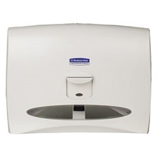 Kimberly-Clark Professional* Personal Seats Toilet Seat Cover Dispenser, 17 1/2 x 2 1/4 x 13 1/4, White