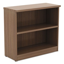 Alera® Alera Valencia Series Bookcase,Two-Shelf, 31 3/4w x 14d x 29 1/2h, Modern Walnut