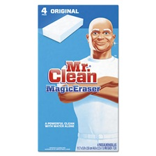 "Mr. Clean® Magic Eraser - All Purpose, 2 2/5"" x 4 3/5"", 1"" Thick, White, 24/Ctn"