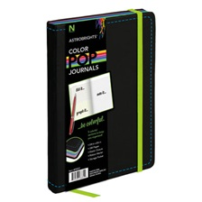 Astrobrights® ColorPop Journal, College Ruled, 8 1/4 x 5 1/8, Black, 240 Sheets