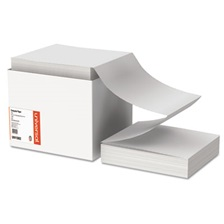 Universal® Computer Paper, 20lb, 9-1/2 x 11, Letter Trim Perforations, White, 2400 Sheets