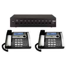 RCA® 25800 Eight-Line Corded Office Phone System, Router and 2 Corded Base Stations