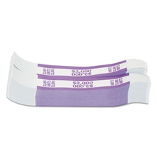 Coin-Tainer® Currency Straps, Violet, $2,000 in $20 Bills, 1000 Bands/Pack