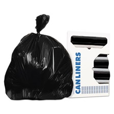 AccuFit® Can Liners, 40 x 53, 1.3 mils, Black, 100/Carton