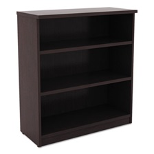 Alera® Alera Valencia Series Bookcase, Three-Shelf, 31 3/4w x 14d x 39 3/8h, Espresso