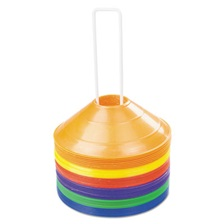 Champion Sports Saucer Field Cones, Set of 8 Assorted Color Cones
