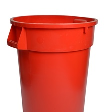 44 Gal. Round Garbage Container Red