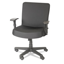 Alera Plus™ XL Series Big & Tall Mid-Back Task Chair, Black