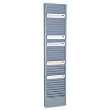 "SteelMaster® 40-Pocket Steel Swipe Card/Badge Rack, 4-1/8"" x 18-11/16"""