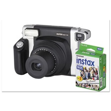 Fujifilm Instax Wide 300 Camera Bundle, 16 MP, Auto Focus, Black