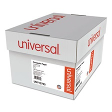 Universal® Green Bar Computer Paper, 2-Part Carbonless, 14-7/8 x11, Perforated, 1650 Sheets