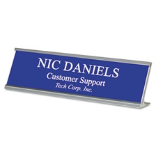 Identity Group Custom Desk/Counter Sign, 2x8, Silver Frame