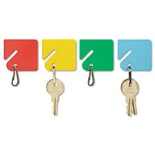 SteelMaster® Slotted Rack Key Tags, Plastic, 1 1/2 x 1 1/2, Assorted, 20/Pack