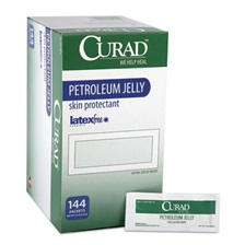 Curad® Petroleum Jelly, 0.18 oz Foil Packet, 144/Box