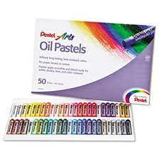 Pentel® Oil Pastel Set With Carrying Case,45-Color Set, Assorted, 50/Set