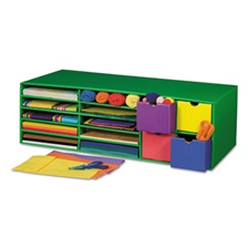 Pacon® Classroom Keepers Crafts Keeper Organizer, Green, 14 Sections, 9 3/8x30x12 1/2