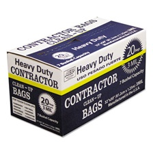 AEP® Industries Inc. Heavy-Duty Contractor Clean-Up Bags, 55-60 gal, 3 mil, 32 x 50, Black, 20/Carton
