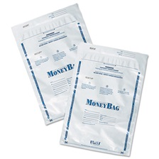 PM Company® Securit® Tamper-Evident Deposit Bags, 9 x 12, Plastic, White, 100 per Pack