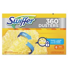Swiffer® 360 Dusters Refill, Dust Lock Fiber, Yellow, 6/Box