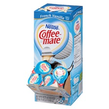 Coffee-mate® Liquid Coffee Creamer, French Vanilla Flavor 0.375 oz., 200 Creamers/Carton