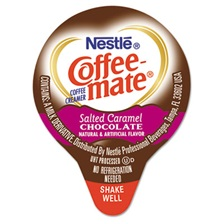 Coffee-mate® Liquid Coffee Creamer, Salted Caramel Chocolate, 0.375 oz Mini Cups, 50/Box