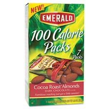 Emerald® 100 Calorie Pack Dark Chocolate Cocoa Roast Almonds, .63oz Packs, 7/Box