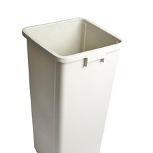 25 Gal. Square Garbage Can Beige