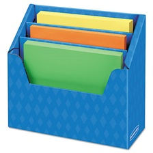 Bankers Box® Folder Holder with Compartment Organizer, 12 1/2 x 9 x 5 5/8, Blue