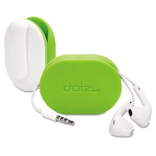 Dotz® Flex Earbud Wrap w/Belt Clip, Lime Green